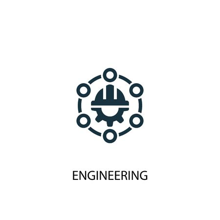 engineering icon. Simple element illustration. engineering concept symbol design. Can be used for web and mobile. Illusztráció