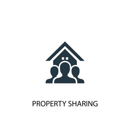 property sharing icon. Simple element illustration. property sharing concept symbol design. Can be used for web