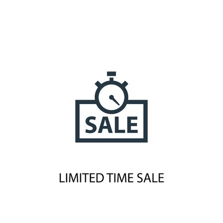 limited time sale icon. Simple element illustration. limited time sale concept symbol design. Can be used for web Illustration