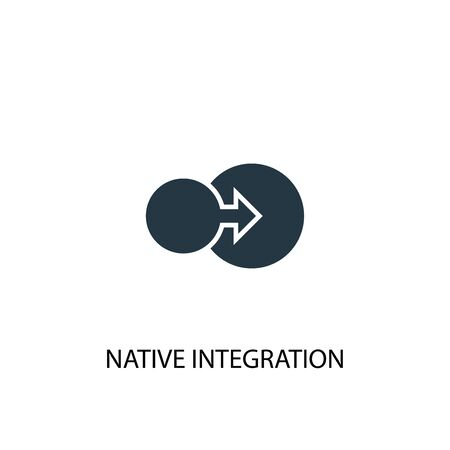 native integration icon. Simple element illustration. native integration concept symbol design. Can be used for web