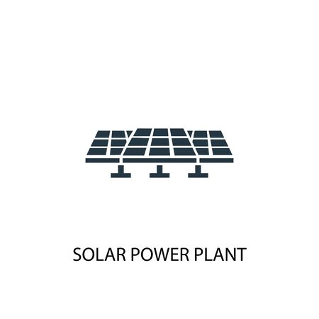 Solar Power Plant icon. Simple element illustration. Solar Power Plant concept symbol design. Can be used for web