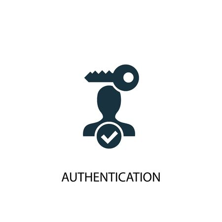 Authentication icon. Simple element illustration. Authentication concept symbol design. Can be used for web