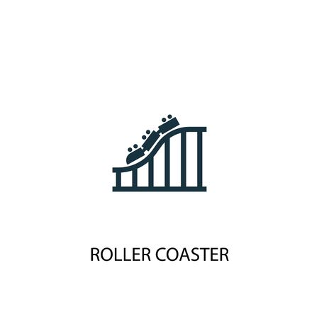 Roller coaster icon. Simple element illustration. Roller coaster concept symbol design. Can be used for web Illustration