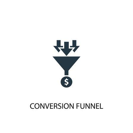 icono de embudo de conversión. Ilustración de elemento simple. diseño de símbolo de concepto de embudo de conversión. Puede usarse para web