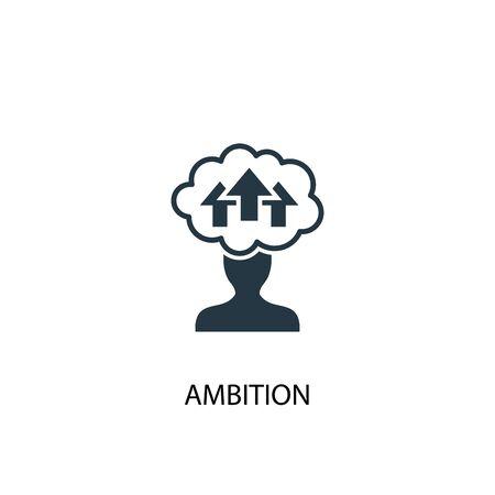 ambitie icoon. Eenvoudige elementenillustratie. ambitie concept symbool ontwerp. Kan worden gebruikt voor internet