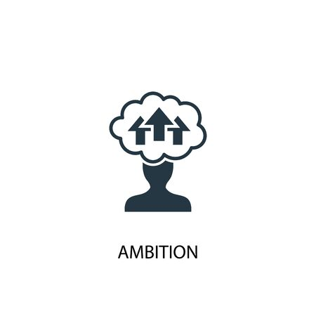 ambition icon. Simple element illustration. ambition concept symbol design. Can be used for web