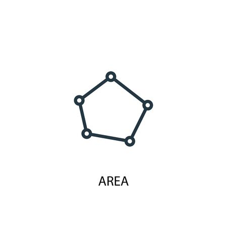 area icon. Simple element illustration. area concept symbol design. Can be used for web