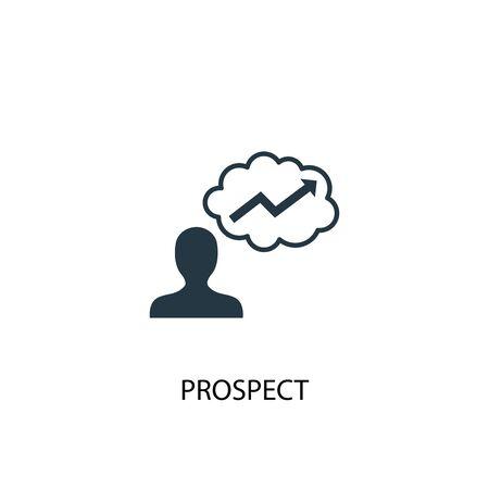 icona di prospettiva. Illustrazione semplice dell'elemento. disegno di simbolo del concetto di prospettiva. Può essere utilizzato per il web