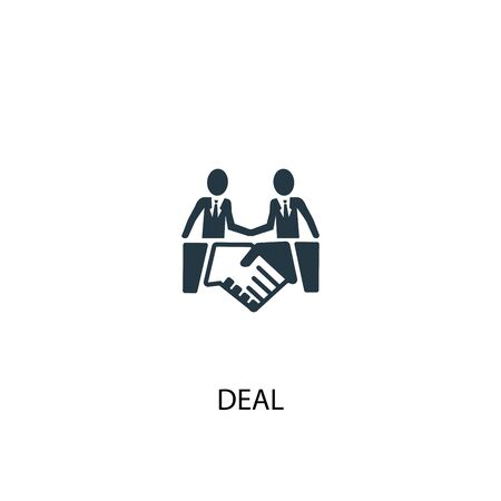 deal icon. Simple element illustration. deal concept symbol design. Can be used for web 스톡 콘텐츠 - 130223049