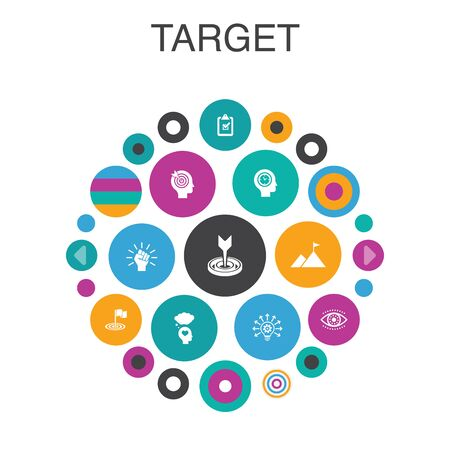 target Infographic circle concept. Smart UI elements big idea, task, goal