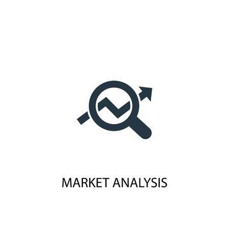 market analysis icon. Simple element illustration. market analysis concept symbol design. Can be used for web