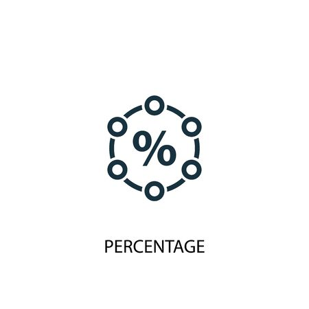 percentage icon. Simple element illustration. percentage concept symbol design. Can be used for web  イラスト・ベクター素材