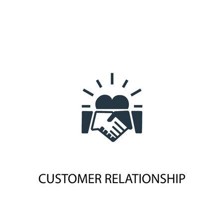 icône de relation client. Illustration d'élément simple. conception de symbole de concept de relation client. Peut être utilisé pour le Web Vecteurs