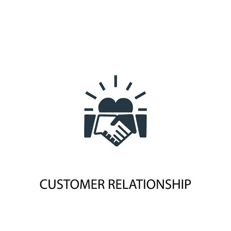 icona della relazione con il cliente. Illustrazione semplice dell'elemento. disegno di simbolo del concetto di relazione con il cliente. Può essere utilizzato per il web Vettoriali