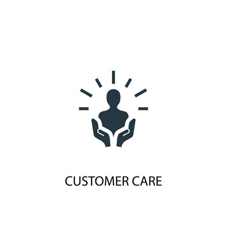 customer care icon. Simple element illustration. customer care concept symbol design. Can be used for web