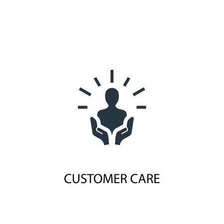 icona di assistenza clienti. Illustrazione semplice dell'elemento. disegno di simbolo del concetto di cura del cliente. Può essere utilizzato per il web