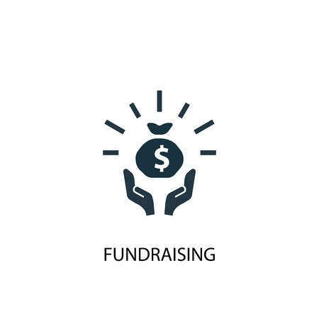 fundraising icon. Simple element illustration. fundraising concept symbol design. Can be used for web