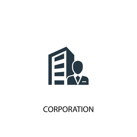 corporation icon. Simple element illustration. corporation concept symbol design. Can be used for web and mobile.