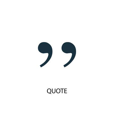 icône de citation. Illustration d'élément simple. citation conception de symbole de concept. Peut être utilisé pour le Web