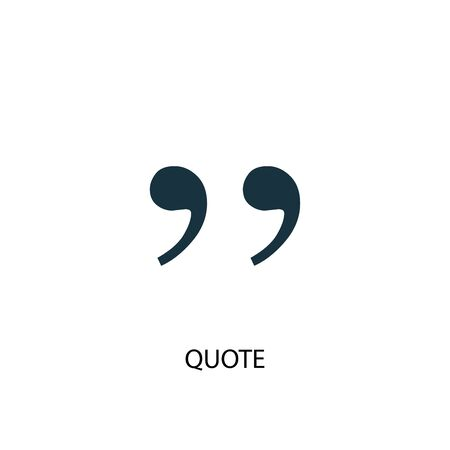quote icon. Simple element illustration. quote concept symbol design. Can be used for web