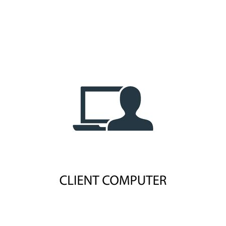 client computer icon. Simple element illustration. client computer concept symbol design. Can be used for web and mobile.