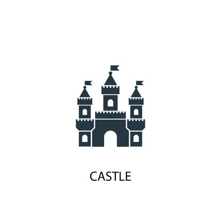 castle icon. Simple element illustration. castle concept symbol design. Can be used for web