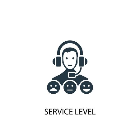 service level icon. Simple element illustration. service level concept symbol design. Can be used for web