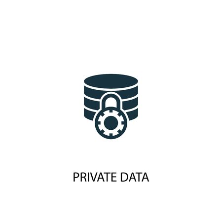 private data icon. Simple element illustration. private data concept symbol design. Can be used for web