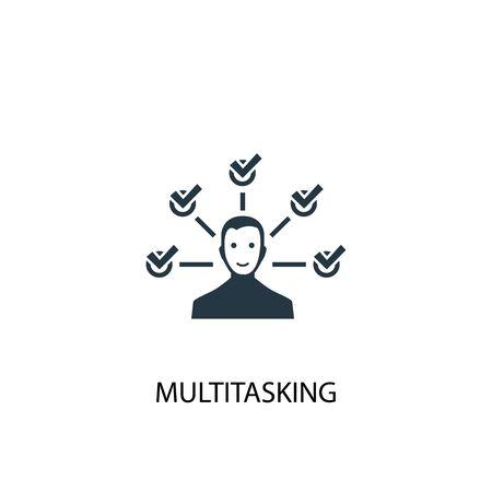 multitasking icon. Simple element illustration. multitasking concept symbol design. Can be used for web