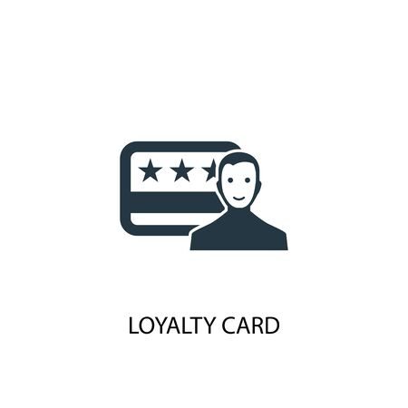 loyalty card icon. Simple element illustration. loyalty card concept symbol design. Can be used for web Reklamní fotografie - 130222530