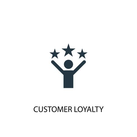 customer loyalty icon. Simple element illustration. customer loyalty concept symbol design. Can be used for web