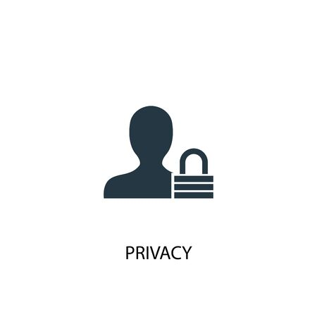 privacy icon. Simple element illustration. privacy concept symbol design. Can be used for web Ilustração