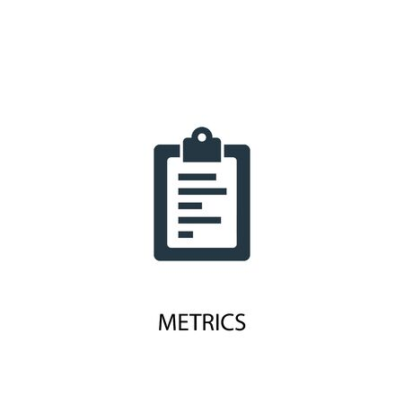 metrics icon. Simple element illustration. metrics concept symbol design. Can be used for web