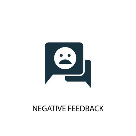 negative feedback icon. Simple element illustration. negative feedback concept symbol design. Can be used for web Illustration