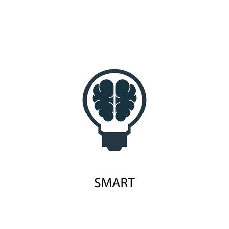 smart icon. Simple element illustration. smart concept symbol design. Can be used for web Stock Vector - 130222536