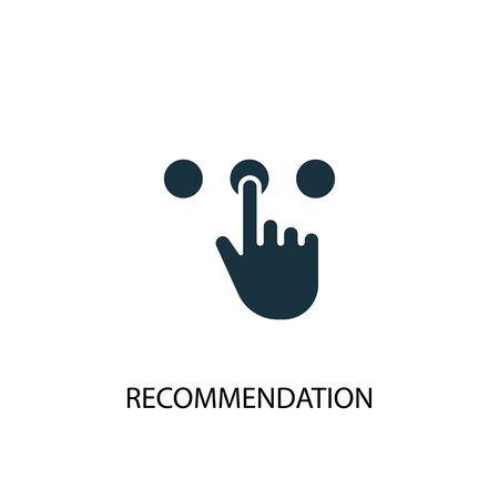 recommendation icon. Simple element illustration. recommendation concept symbol design. Can be used for web and mobile.