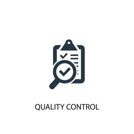 Symbol für die Qualitätskontrolle. Einfache Elementabbildung. Qualitätskontrollkonzept Symboldesign. Kann für Web verwendet werden Vektorgrafik