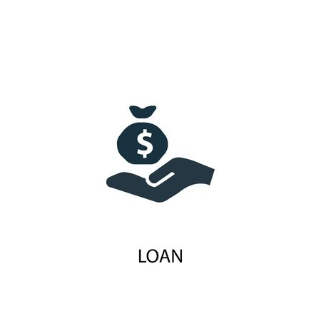 loan icon. Simple element illustration. loan concept symbol design. Can be used for web Çizim
