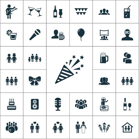 party icons universal set for web and mobile.