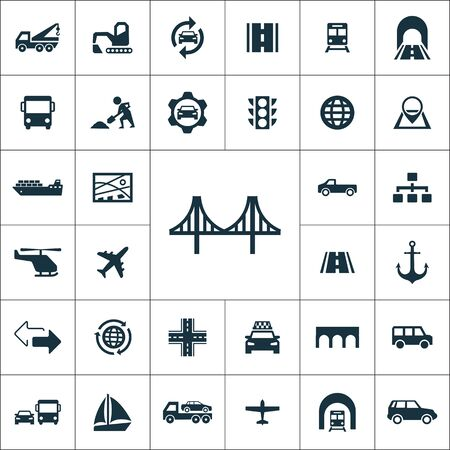 infrastructure icons universal set for web and UI