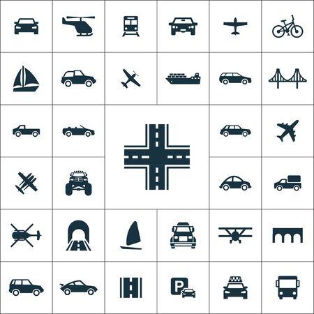 transportation icons universal set for web and UI Ilustracje wektorowe