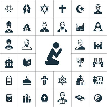 religion icons universal set for web and UI Foto de archivo - 130222155