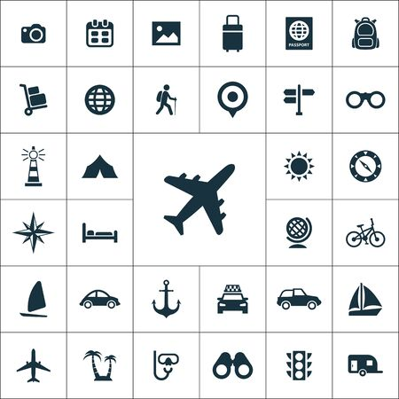 travel icons universal set for web and mobile.
