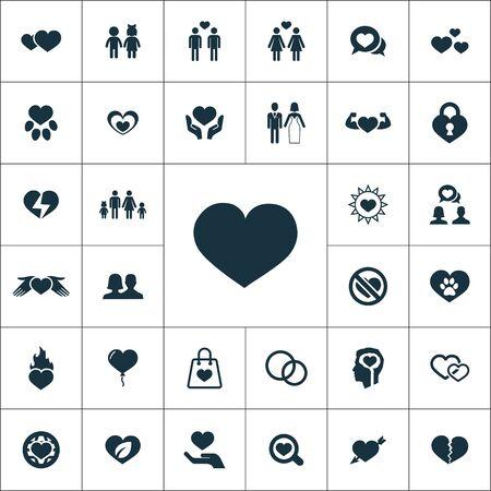 love icons universal set for web and UI Standard-Bild - 130222198