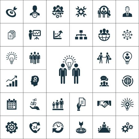 business planning icons universal set for web and mobile.