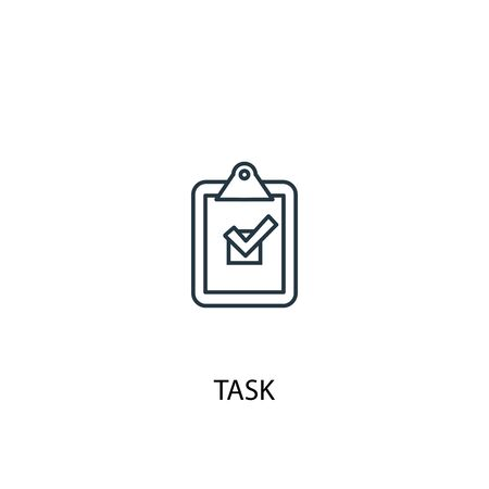 task concept line icon. Simple element illustration. task concept outline symbol design. Can be used for web and mobile UI