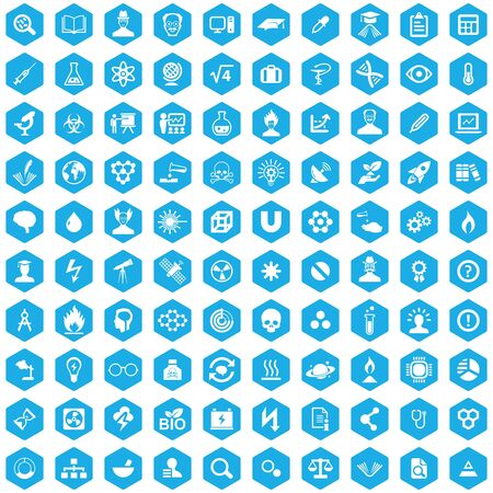 science 100 icons universal set for web and UI Banque d'images - 130222002