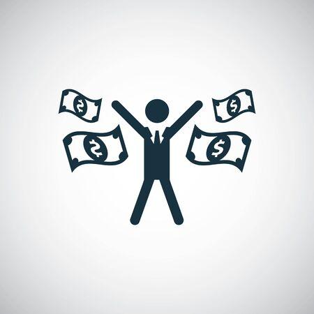 rich man icon, on white background.  イラスト・ベクター素材