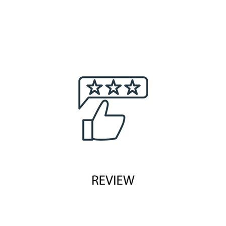 review concept line icon. Simple element illustration. review concept outline symbol design. Can be used for web and mobile UI