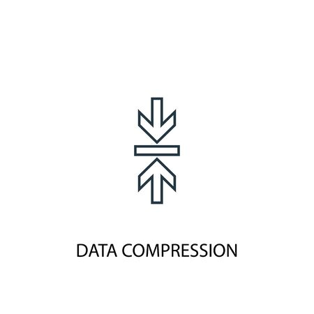 Data Compression concept line icon. Simple element illustration. Data Compression concept outline symbol design. Can be used for web and mobile Illustration